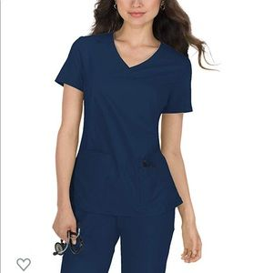 Navy blue koi basic scrub top